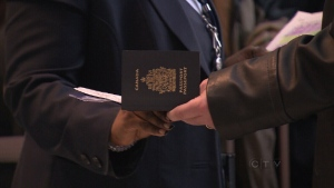 Passport held by a Canadian.