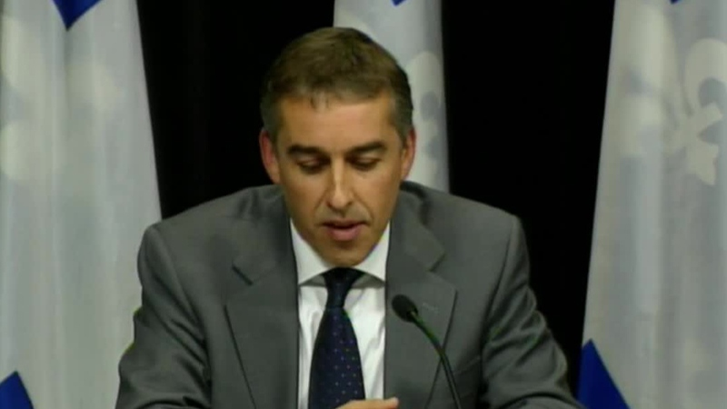 Quebec finance minister Nicolas Marceau explains how the PQ government will revise the health tax. (Oct. 10, 2012)