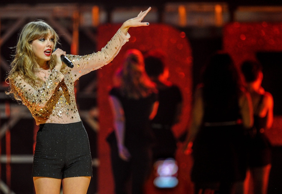 Taylor Swift performs at iHeart Radio Music Festival at the MGM Grand Arena in Las Vegas in this September 2012 file photo. (Invision / Eric Reed)