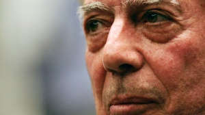 Peruvian writer Mario Vargas Llosa speaks during a news conference at the International Book Fair in Guadalajara, Mexico, in this Dec. 4, 2009. Mario Vargas Llosa won the 2010 Nobel Prize in literature Thursday Oct. 7, 2010. (AP /C arlos Jasso)
