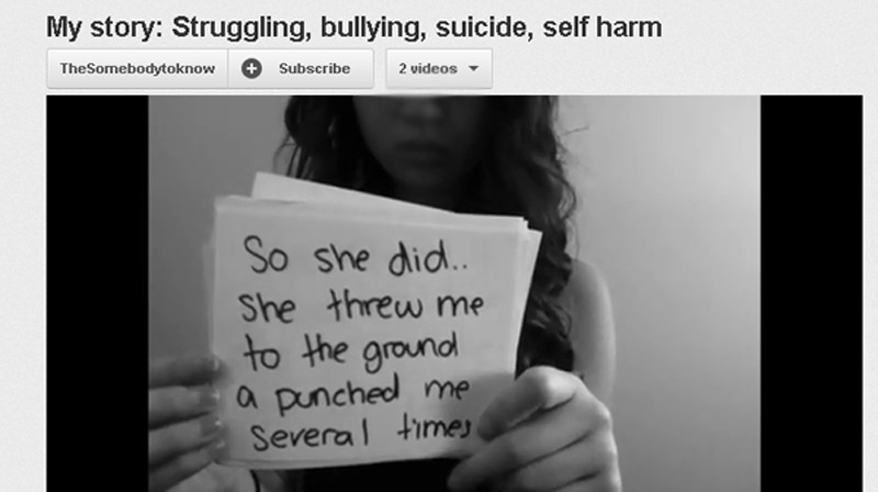 Amanda Todd in a YouTube video about being bullied. (YouTube)