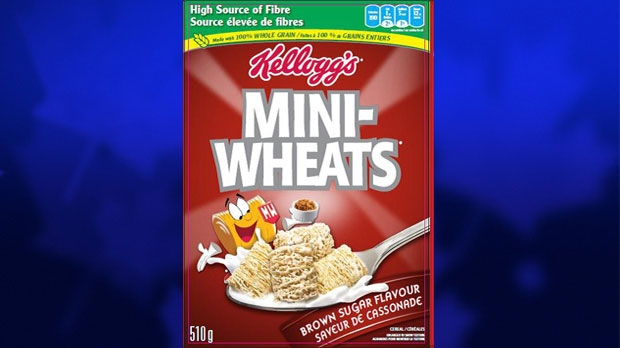In Canada, the recalled cereals include Mini-Wheats Brown Sugar Flavour Frosted cereal