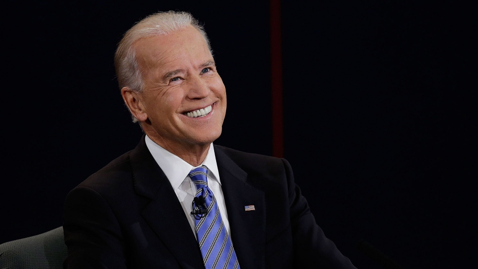 Vice President Joe Biden reacts to a question during the vice presidential debate at Centre College, Thursday, Oct. 11, 2012, in Danville, Ky. (AP / Charlie Neibergall)