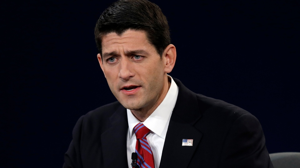 Republican vice presidential nominee Rep. Paul Ryan of Wisconsin answers a question during the vice presidential debate at Centre College, Thursday, Oct. 11, 2012, in Danville, Ky. (AP / Charlie Neibergall)