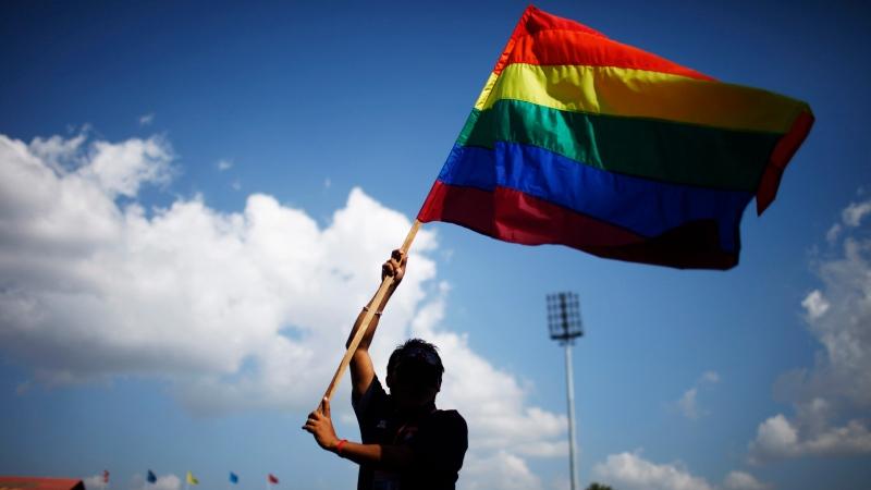 LGBT flag. (AP / Niranjan Shrestha)