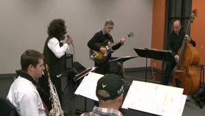 Musicians play at the Segal Centre