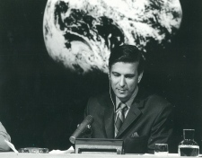 Lloyd Robertson anchoring the Moon Landing in 1969
