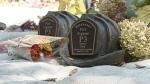 Bronze helmets in memory of fallen Kitchener firefighters