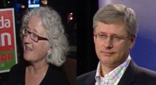 Edmonton-Strathcona NDP MP Linda Duncan and Conservative Prime Minister Stephen Harper exchanged harsh words about one another on Friday and Saturday.