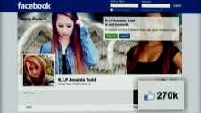 Amanda Todd tributes pop up across Canada