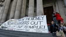 Occupy movement activists in London