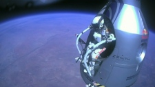 Felix Baumgartner jumps from the stratosphere