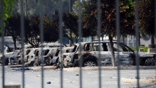 Several dozen burned cars in Libya