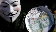 Occupy London demonstrator
