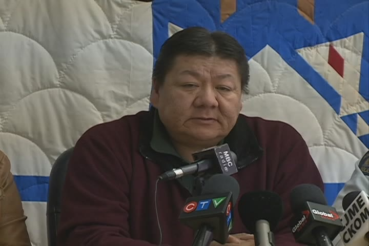 Standing Buffalo First Nation Chief Roger Redman is seen in this undated file photo.