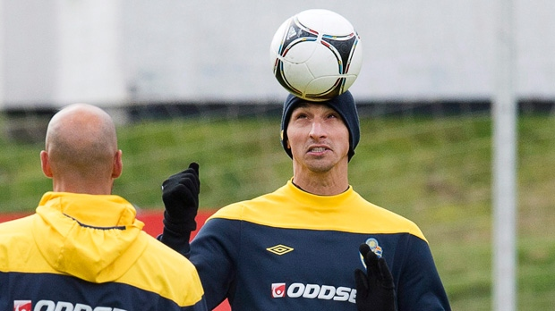 Zlatan Ibrahimovic on Oct. 10, 2012.