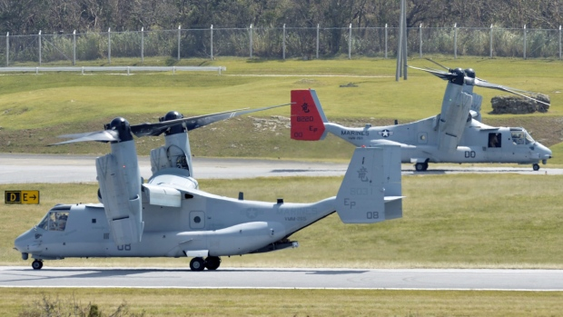 Osprey aircraft in Japan