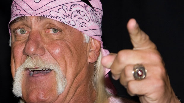 Hulk Hogan attends a news conference to announce his return to wrestling with TNA Wrestling held at Madison Square Garden in New York, Oct. 27, 2009. (AP / Charles Sykes)