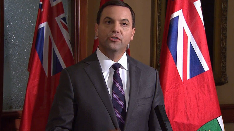 Progressive Conservative Leader Tim Hudak speaks to the media in Toronto on Monday, Oct. 15, 2012.
