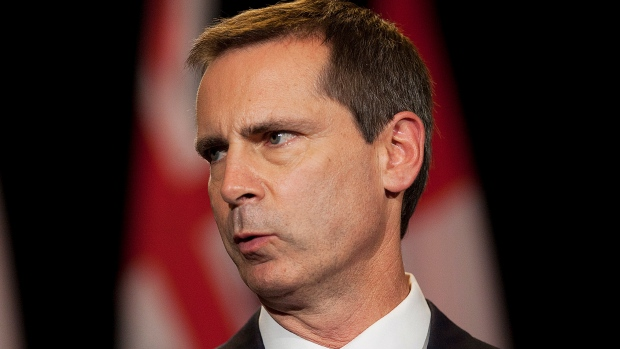 McGuinty announcing his resignation