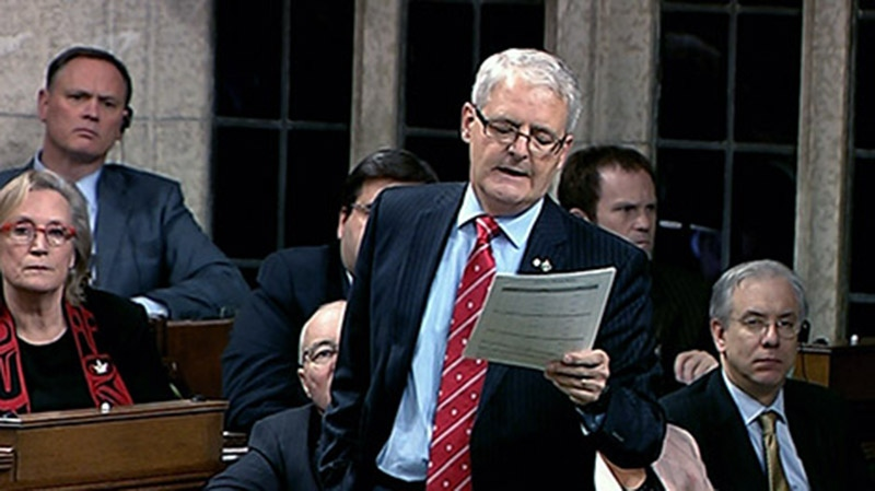 Liberal MP Marc Garneau recommends a national strategy to combat bullying at Question Period in the House of Commons in Ottawa, Monday, Oct. 15, 2012.