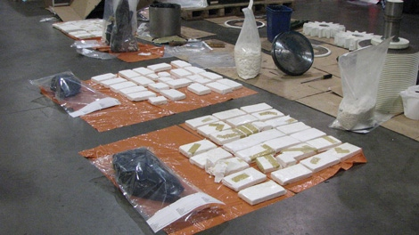 Vancouver border officials discovered 97.5 kilograms of cocaine in a fruit-grinding machine on Sept. 22, 2010. (Handout)
