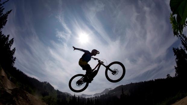 Mountain bike rider Paul Stevens