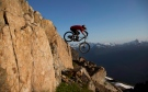 A mountain biker on the peak of Whistler mountain on Aug. 11, 2012. (Photo: THE CANADIAN PRESS/Jonathan Hayward)