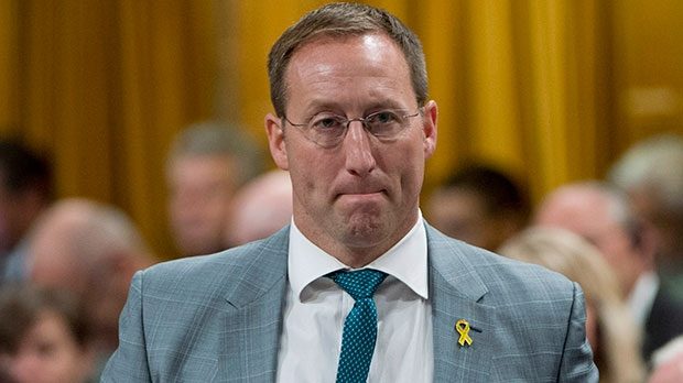 Minister of National Defence Peter MacKay responds to a question during Question Period in the House of Commons in Ottawa, Tuesday October 16, 2012. (Adrian Wyld /  THE CANADIAN PRESS)