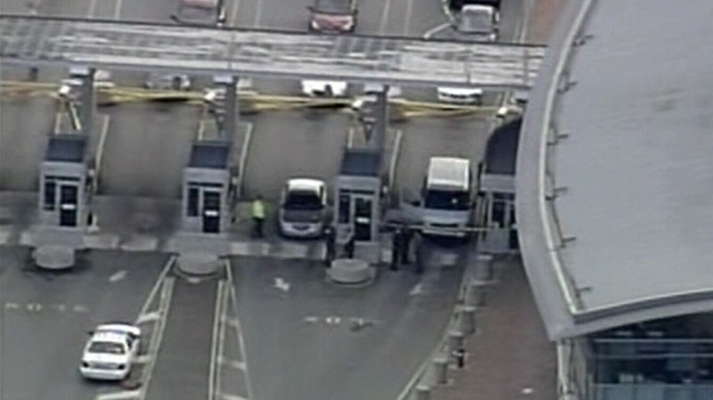 A Canada Border Services Agency officer was shot Tuesday at the Peace Arch border crossing. (CTV News)