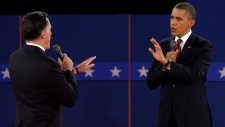 Obama and Romney U.S. presidential debate