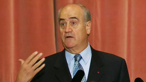 Julian Fantino, the former top cop for both Toronto and Ontario, speaks in Toronto on Tuesday, Oct. 12, 2010.