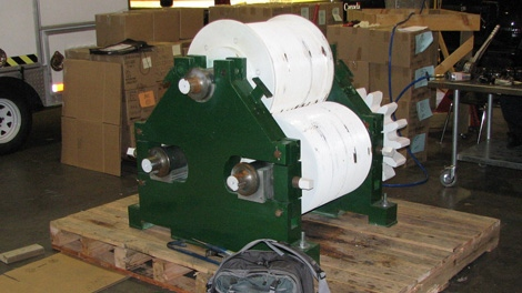 The fruit-grinding machine in which Vancouver border officials discovered 97.5 kilograms of cocaine on Sept. 22, 2010. (Handout)
