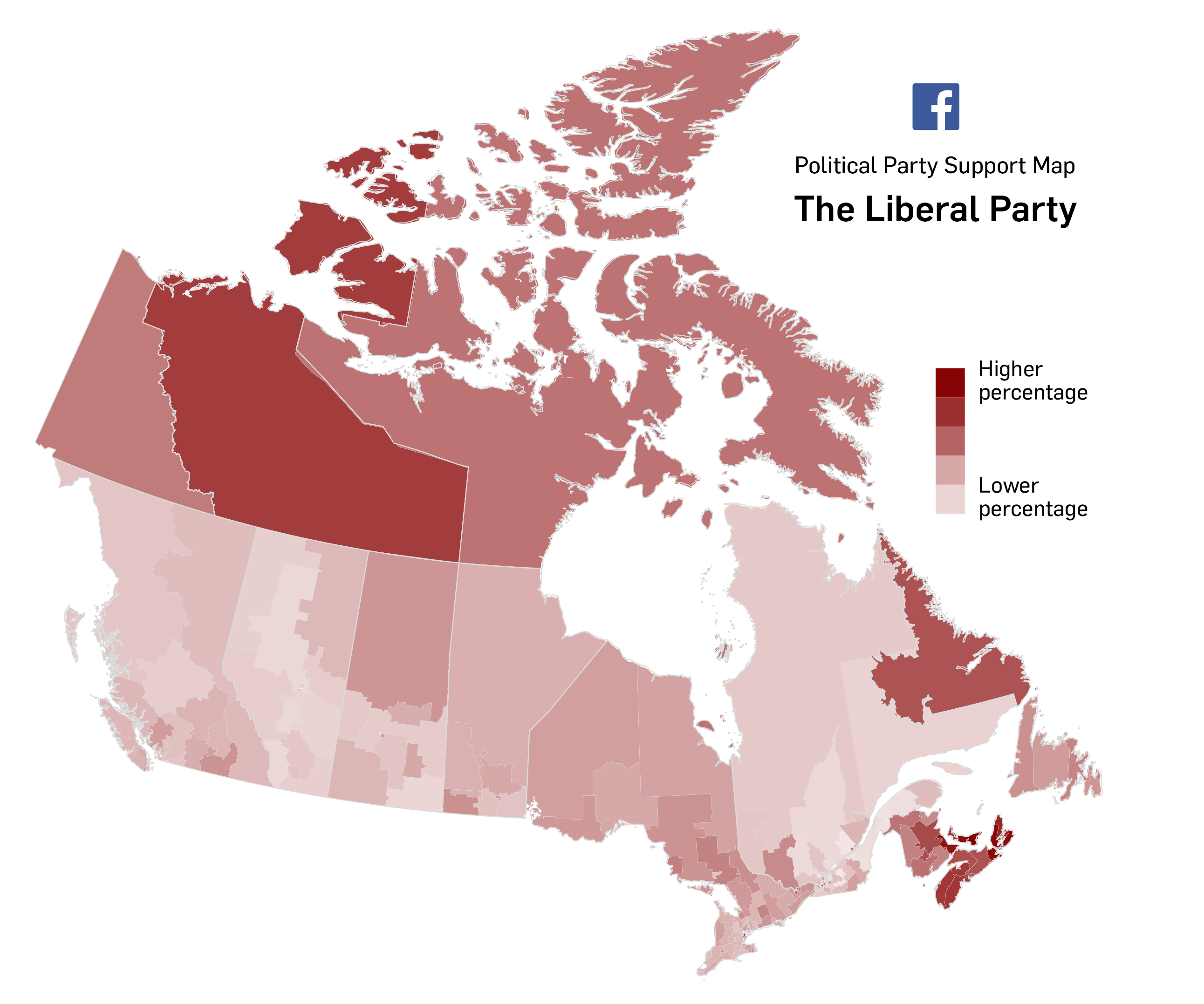 Interactive  Facebook Party Support Maps